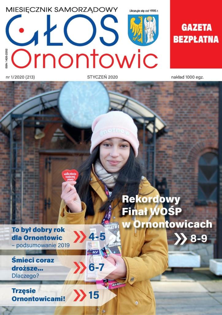 """Głos Ornontowic"" - okładka nr 1/2020 (213)."