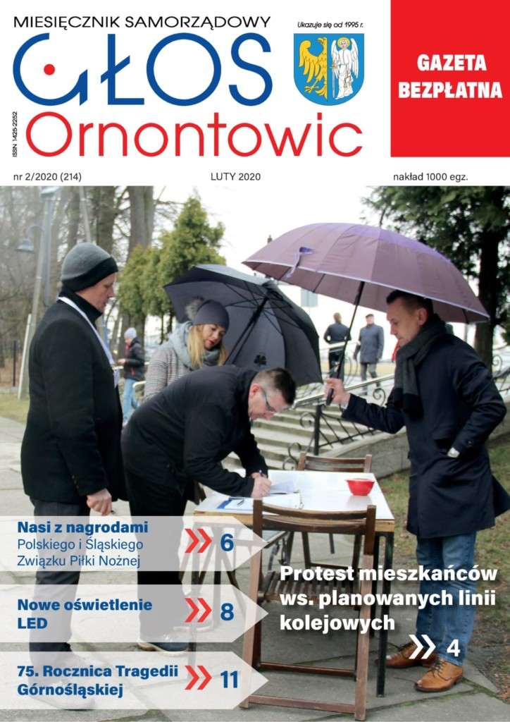 """Głos Ornontowic"" - okładka nr 2/2020 (214)."