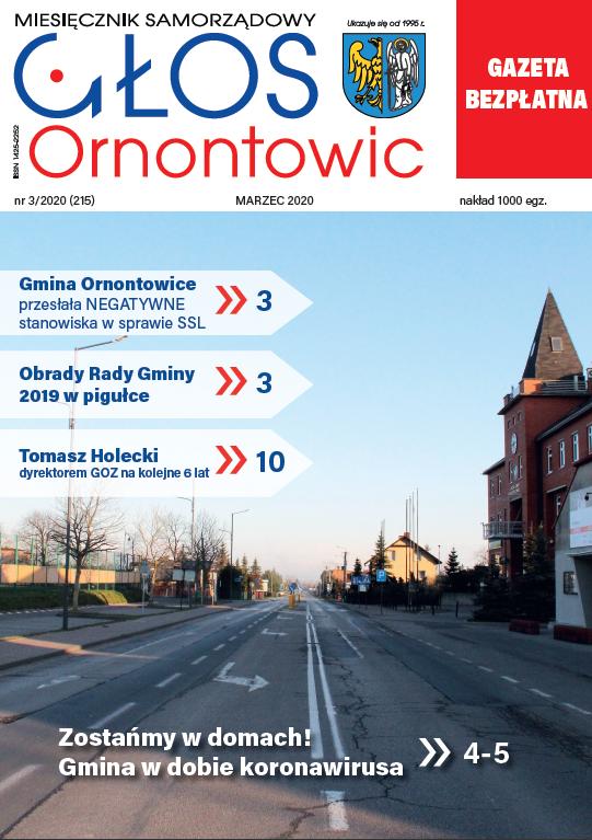 """Głos Ornontowic"" - okładka nr 3/2020 (215)."