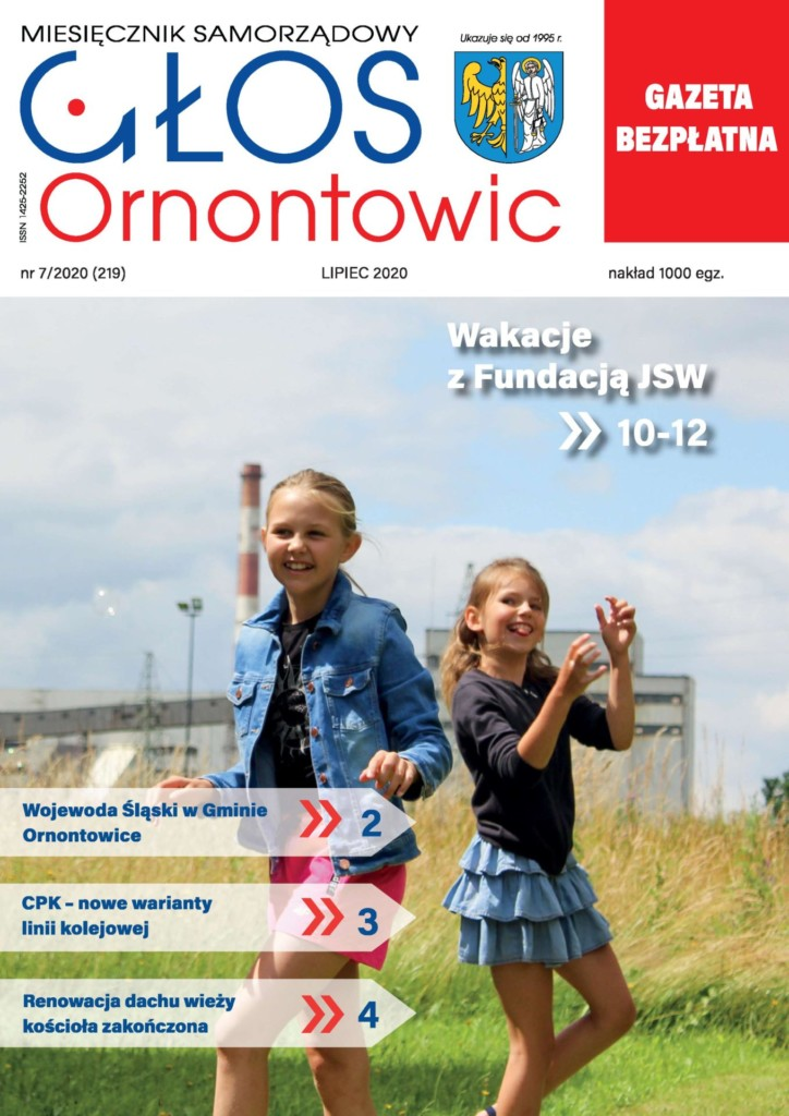 "Okładka ""Głosu Ornontowic"" nr 7/2020 (219)."