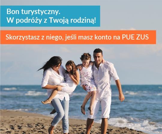 Grafika promocyjna: Polski Bon Turystyczny.