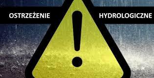 Grafika z napisem: ostrzeżenie hydrologiczne.