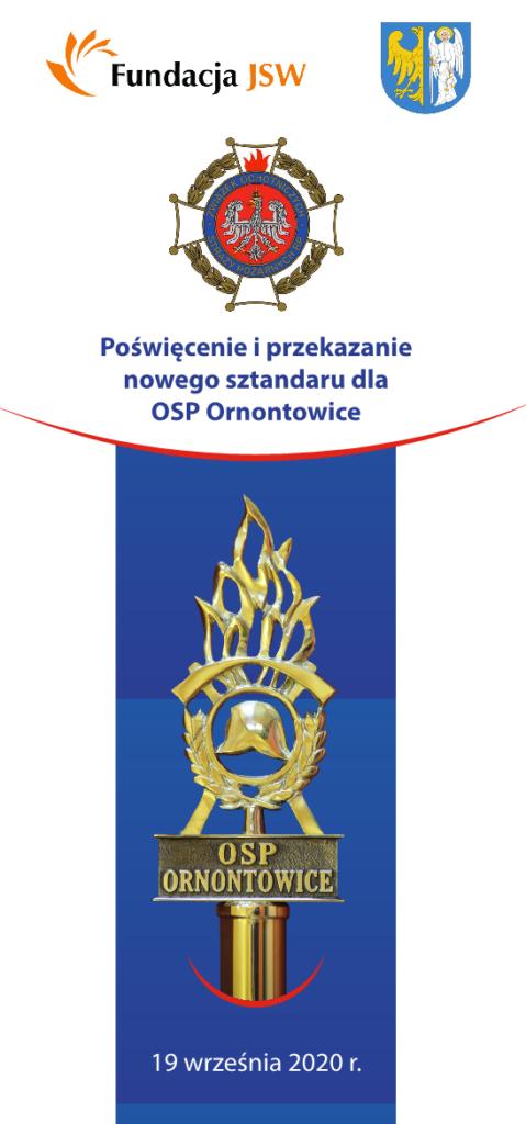 Grafika - informacja o poświęceniu sztandaru OSP