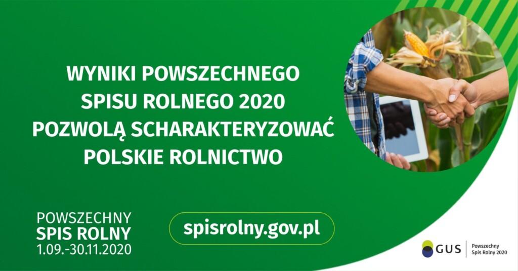 Grafika dedykowana Powszechnemu Spisowi Rolnemu 2020 - wyniki spisu