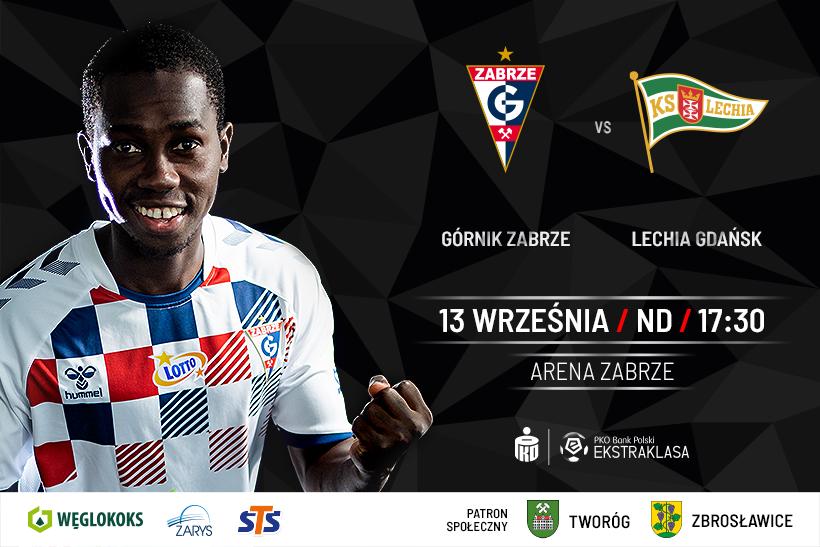 Grafika - mecz Górnik Zabrze - Lechia Gdańsk