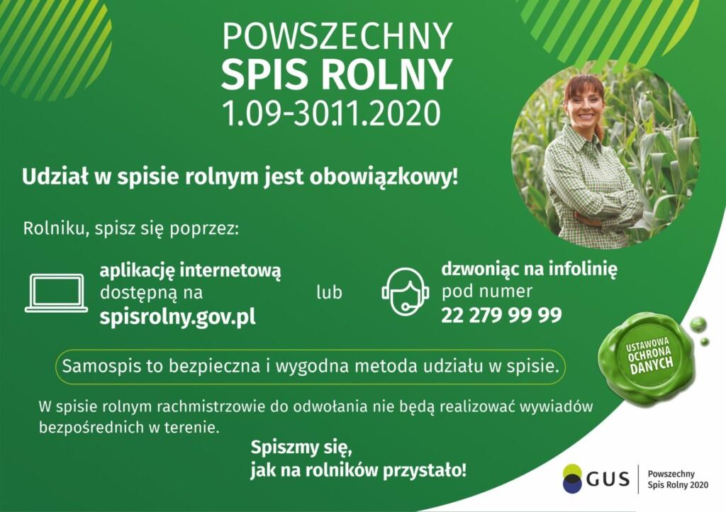 Grafika promocyjna Powszechny Spis Rolny.