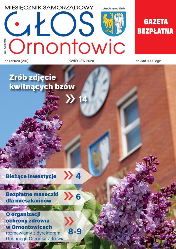 """Głos Ornontowic"" - okładka nr 4/2020 (216)."