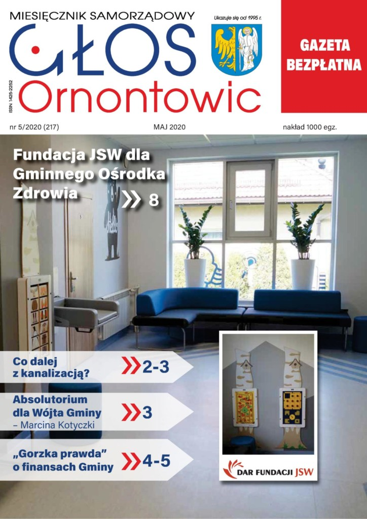 """Głos Ornontowic"" - okładka nr 5/2020 (217)."