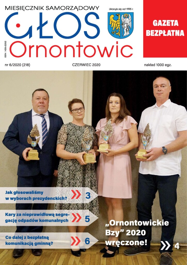 """Głos Ornontowic"" - okładka nr 6/2020 (218)."