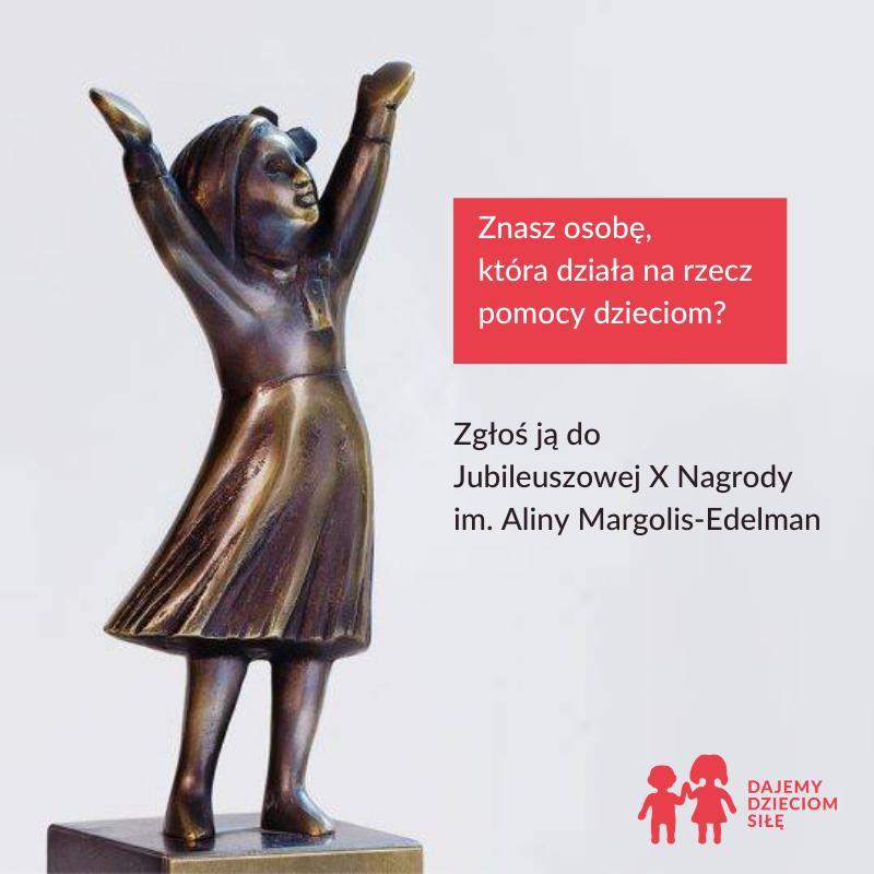 Grafika przedstawiająca nagroda im. Aliny Margolis-Edelman.