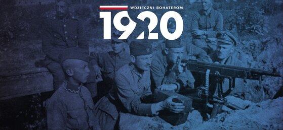 """Grafika promocyjna """"wdzięczni bohaterom 1920""""."""