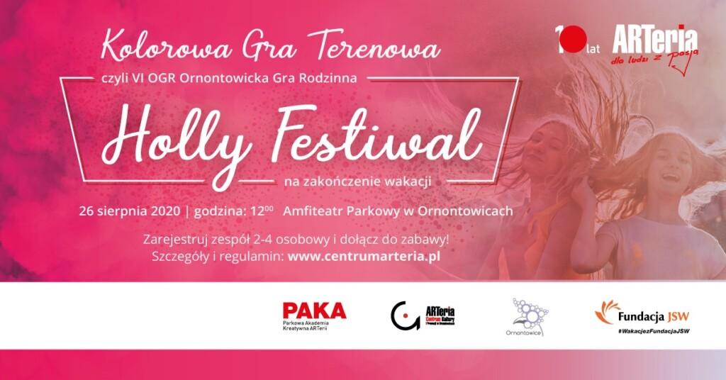 Plakat - Kolorowa Gra Terenowa Holly Festiwal, 26 sierpnia godz. 12.00