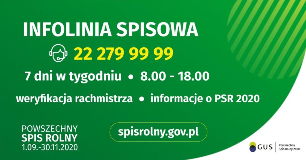 Grafika promocyjna - infolinia spisowa.