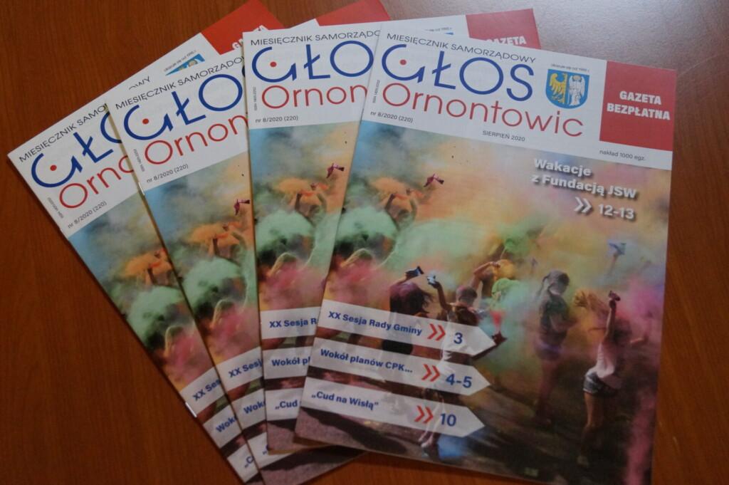 "Okładka ""Głosu Ornontowic"" nr 8/2020"