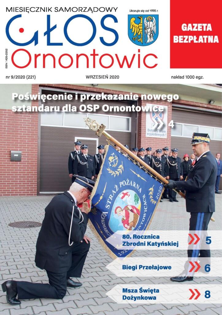 """Głos Ornontowic"" - okładka nr 9/2020 (221)."