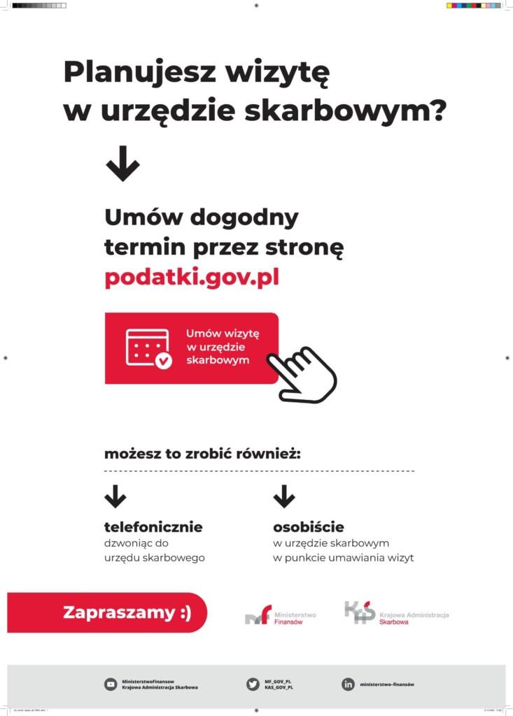 Grafika informacyjna Urzędu Skarbowego.