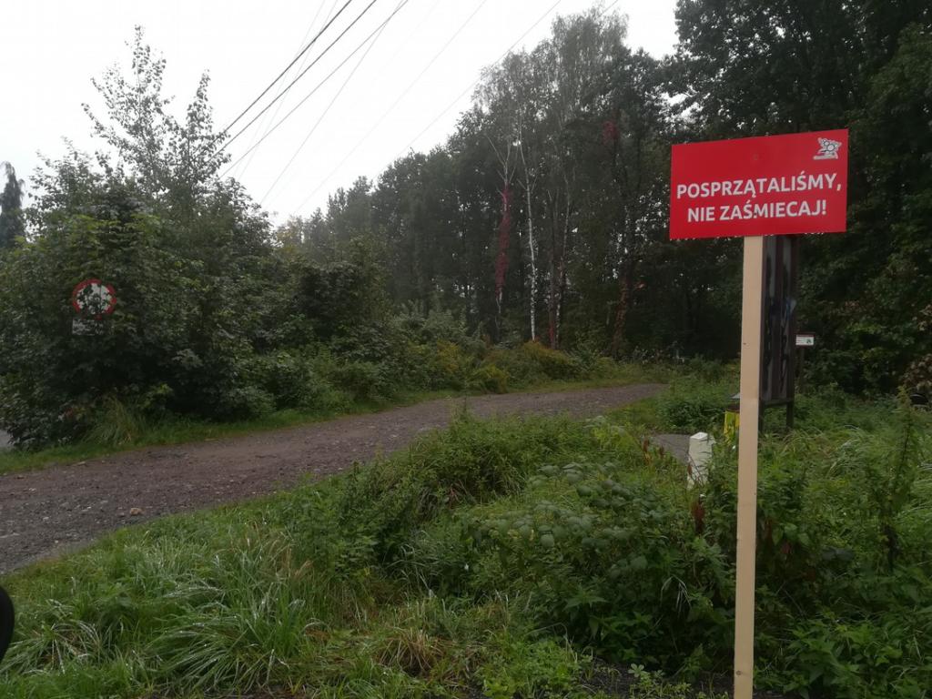 Zdjęcie przedstawia tablicę umieszczoną przy ul. Leśnej.