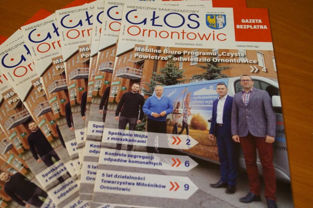 Zdjęcie okładki październikowego Głosu Ornontowic nr 10/2020 (222).