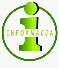 """Grafika przedstawiająca zieloną literę """"i"""" z napisem """"informacja"""""""