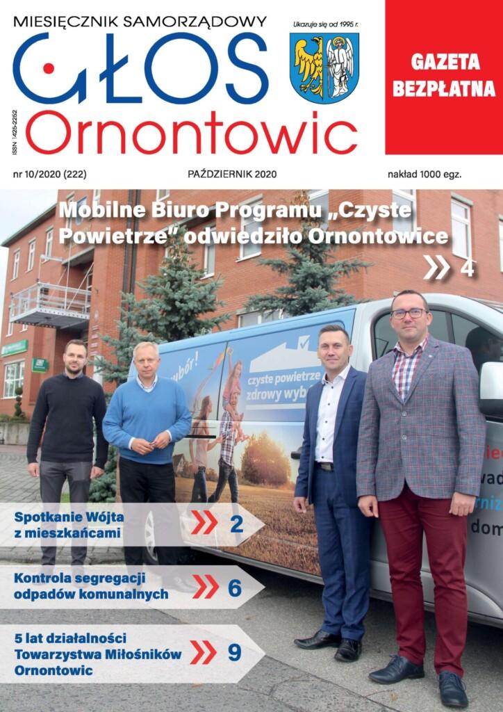 "Okładka ""Głosu Ornontowic"" nr 10/2020 (222)."