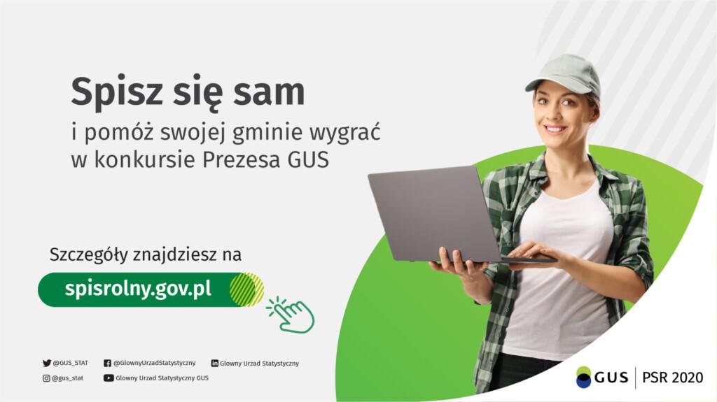 Grafika promocyjna Powszechnego Spisu Rolnego.