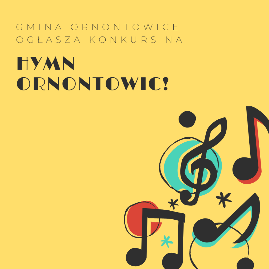 Grafika dedykowana konkursowi na Hymn Ornontowic