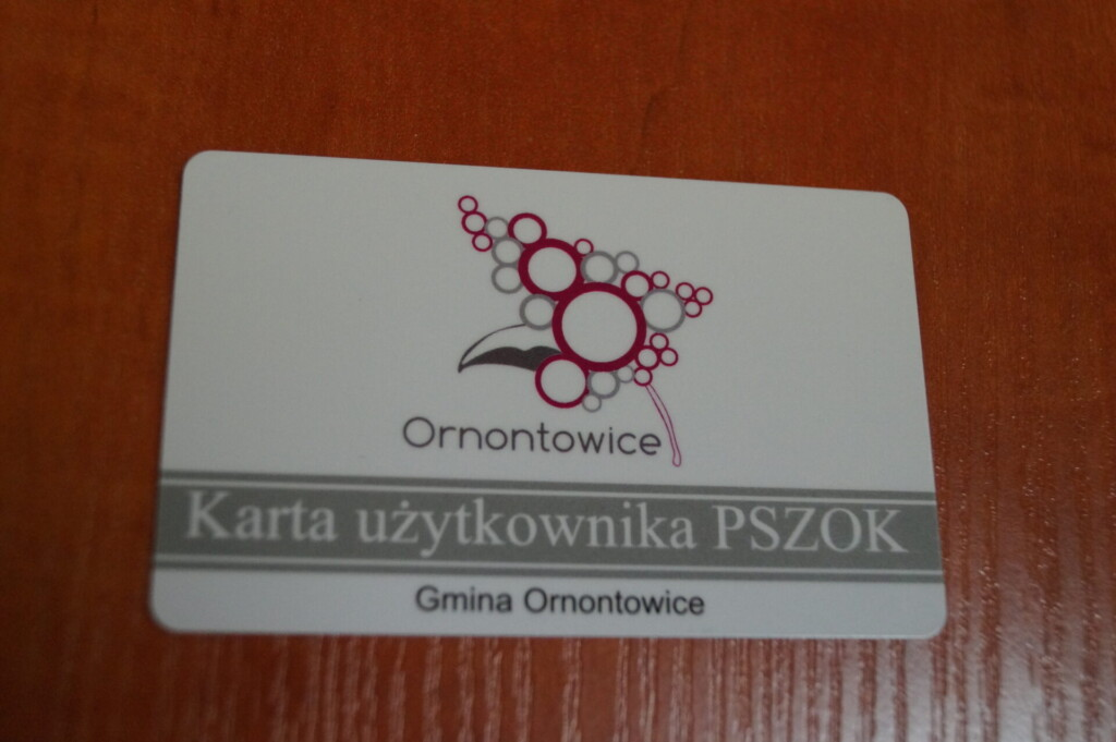 Zdjęcie przedstawiające kartę użytkownika PSZOK.