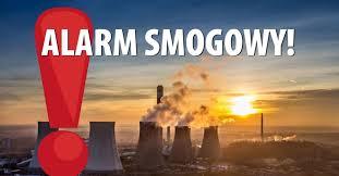 Grafika z napisem: alarm smogowy.