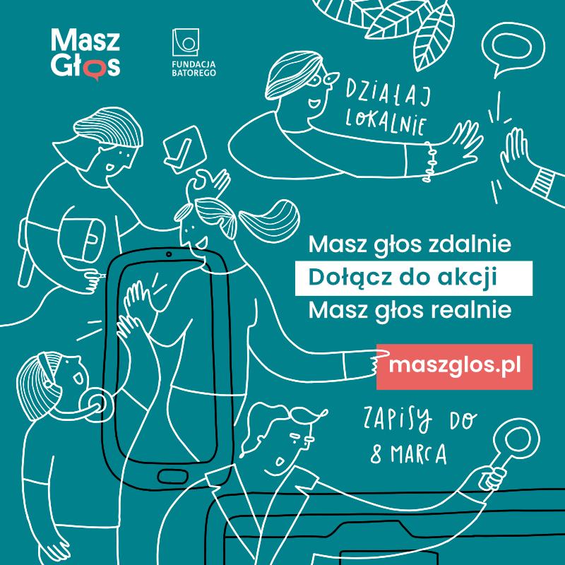 Grafika promocyjna akcji Masz Głos.