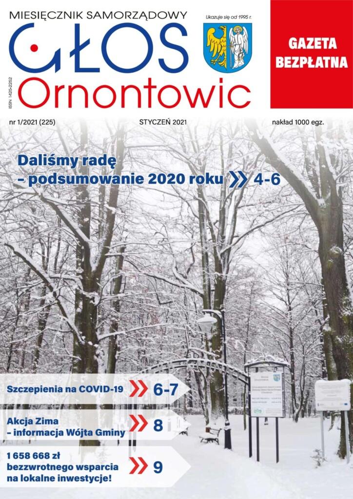 """Głos Ornontowic"" okładka numeru 1/2021 (225)."