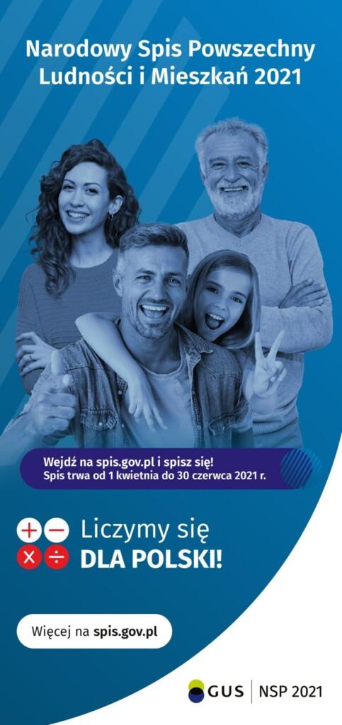 Ulotka informacyjna o wyznaczonym terminie Narodowego Spisu Powszechnego Ludności i Mieszkań 2021