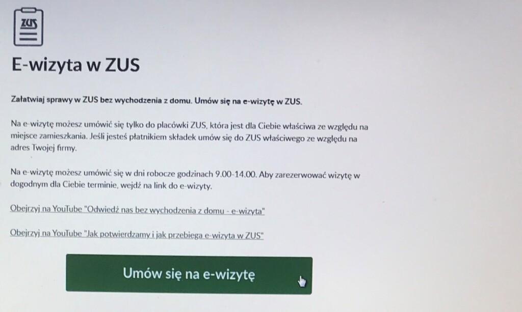 Grafika dedykowana e-wizycie w ZUS