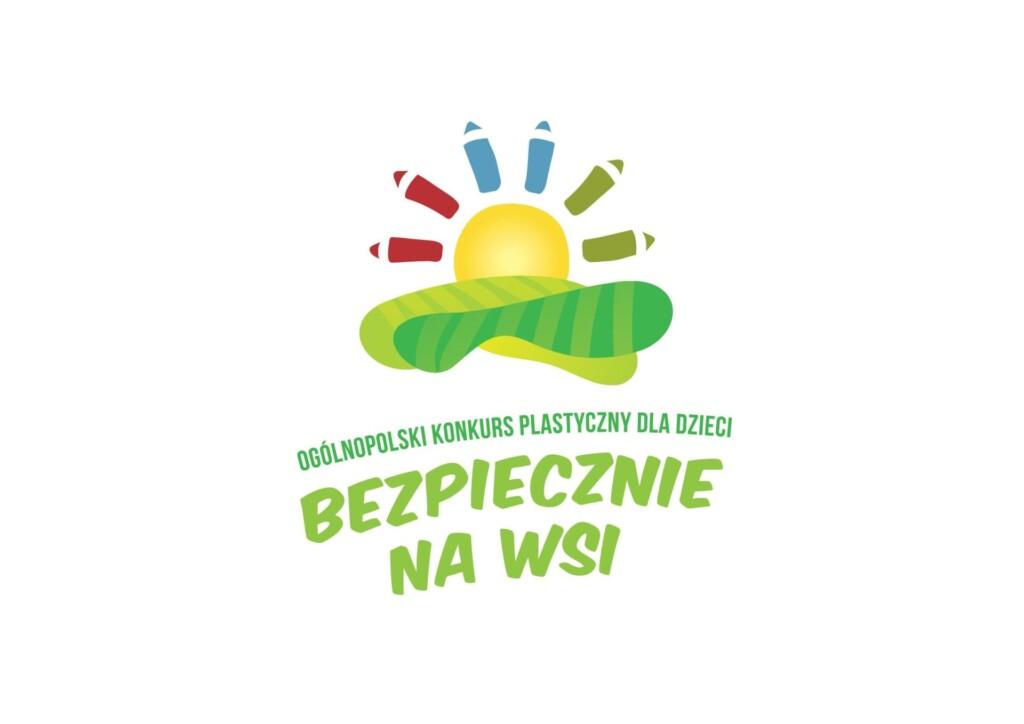 Grafika promocyjna konkursu bezpiecznie na wsi.