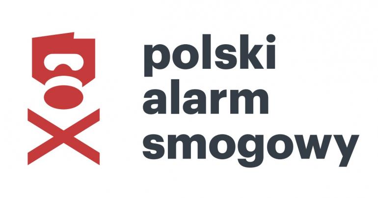 Logo Polskiego Alarmu Smogowego.