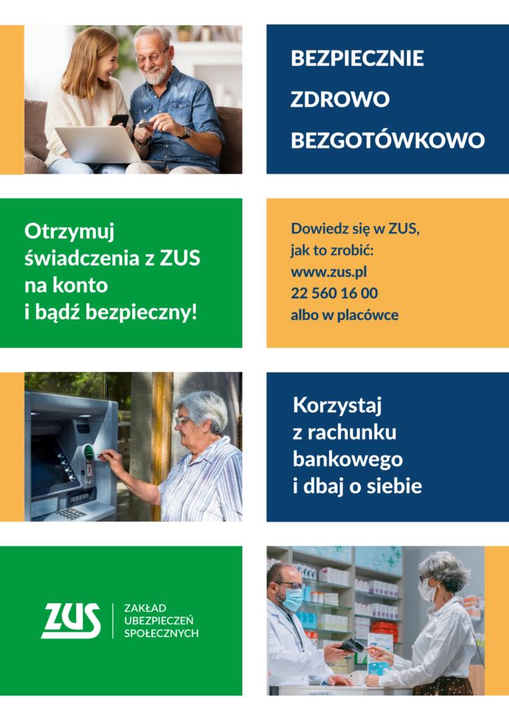 plakat ZUS dotyczący usług bankowych