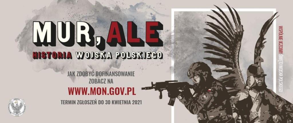 Grafika promocyjna: Mur, ale historia Wojska Polskiego.