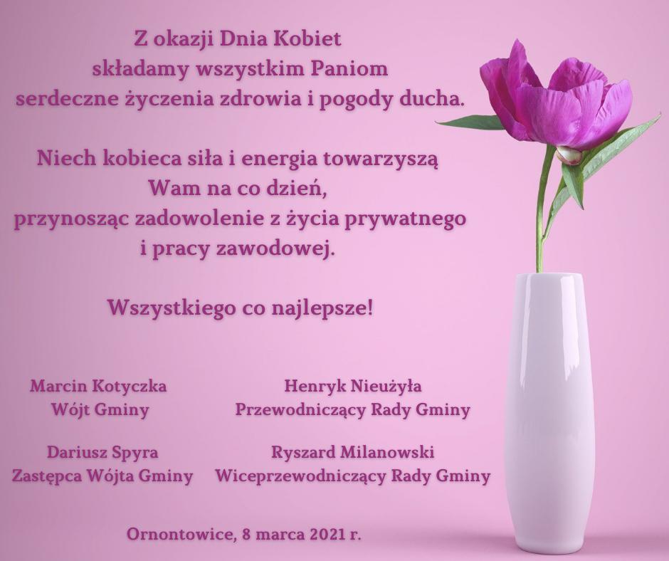 Grafika - życzenia na Dzień Kobiet