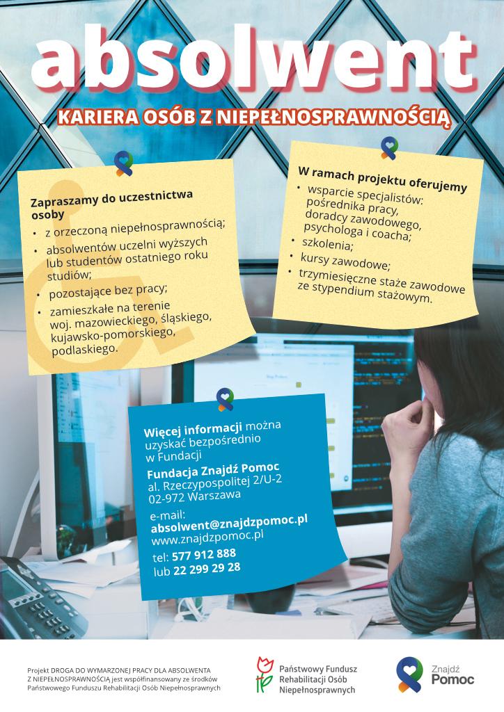 Plakat dotyczący projektu