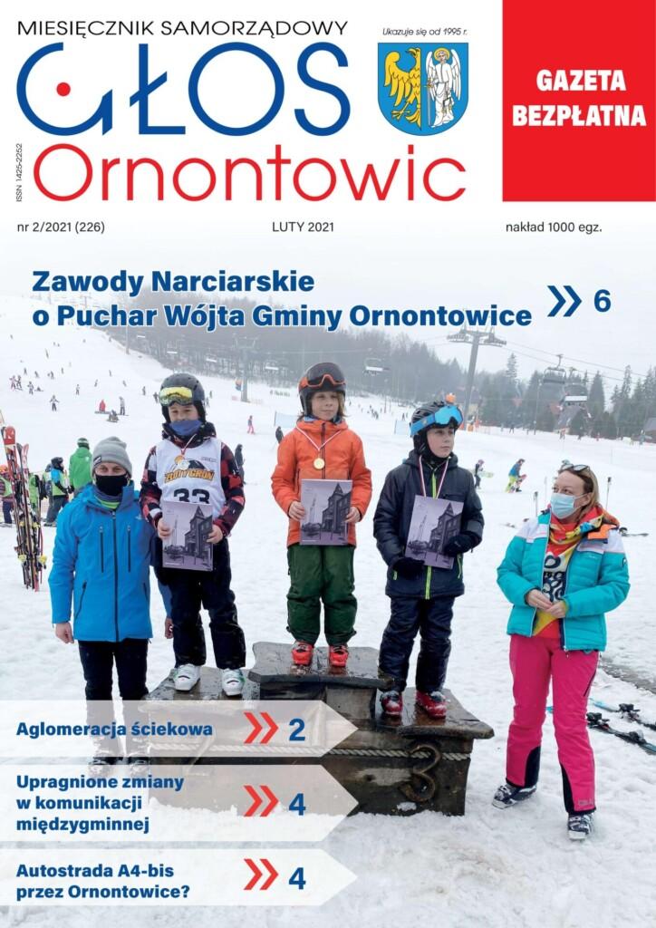"""Głos Ornontowic"" okładka numeru 2/2021 (226)."