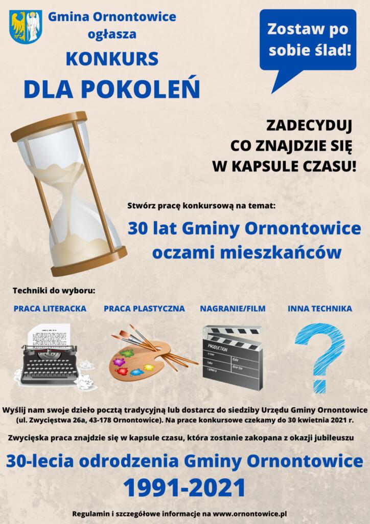 Plakat do konkursu DLA POKOLEŃ