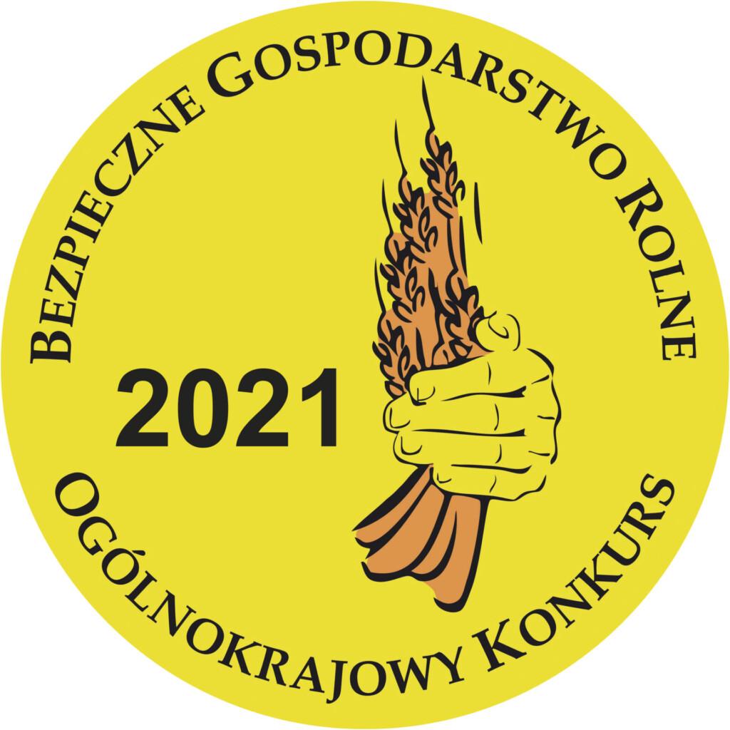 Logo ogólnokrajowego konkursu: Bezpieczne Gospodarstwo Rolne.