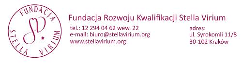 Stopka adresowa Fundacja Rozwoju Kwalifikacji Stella Virium