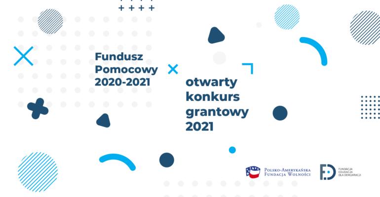 Grafika promocyjna Funduszu Pomocowego 2020-2021.