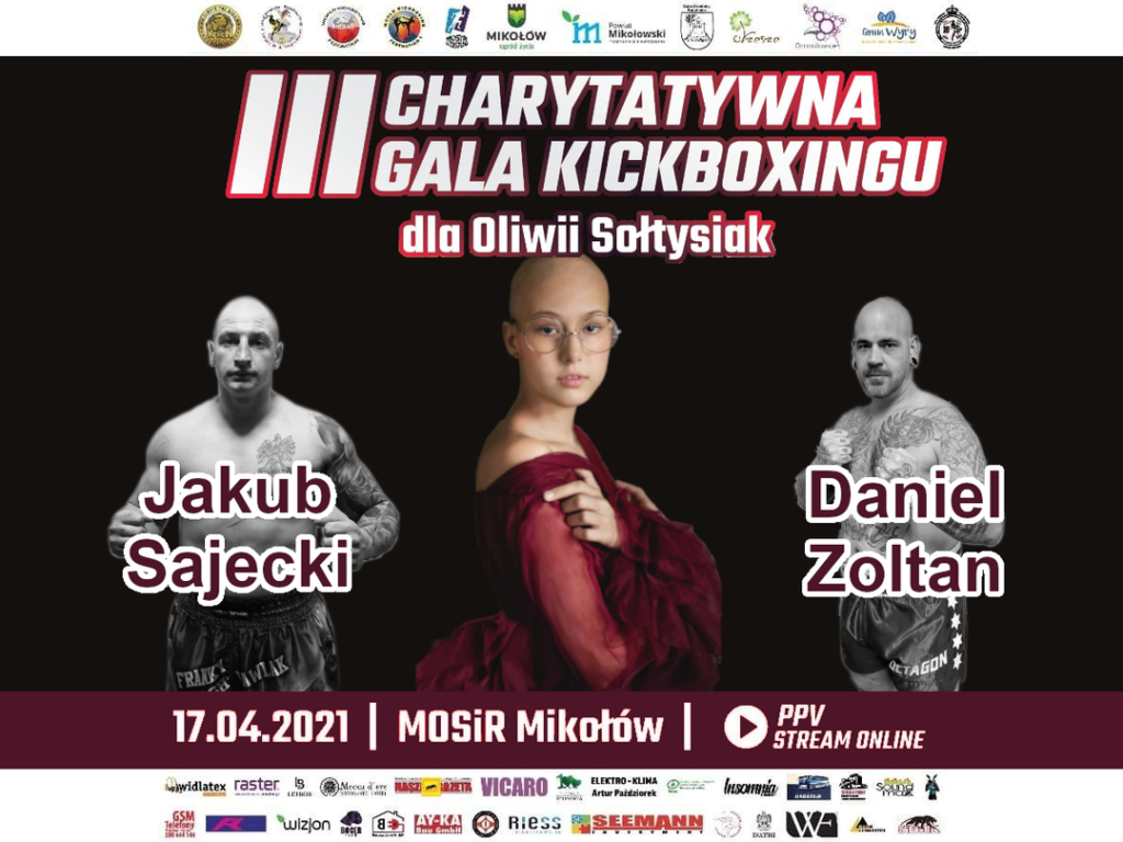 Grafika III Charytatywna Gala Kickboxingu