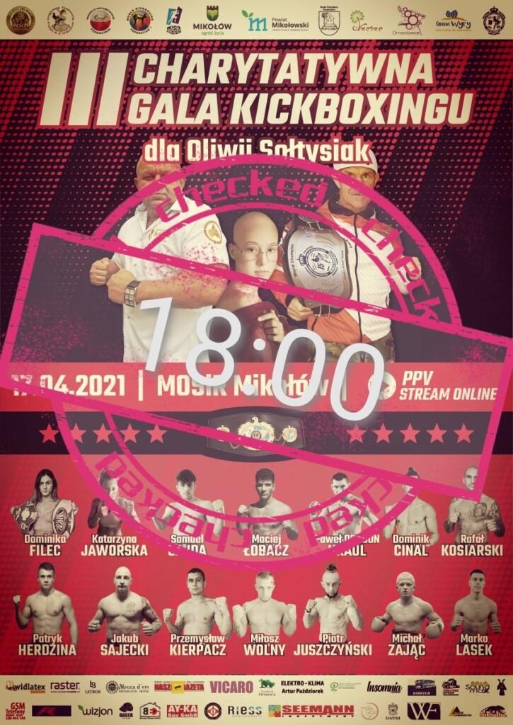 Plakat - III Charytatywna Gala Kickboxingu