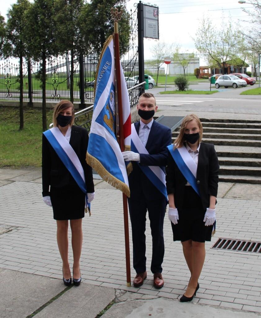 Zdjęcie z obchodów 3 Maja 2021 w Ornontowicach.