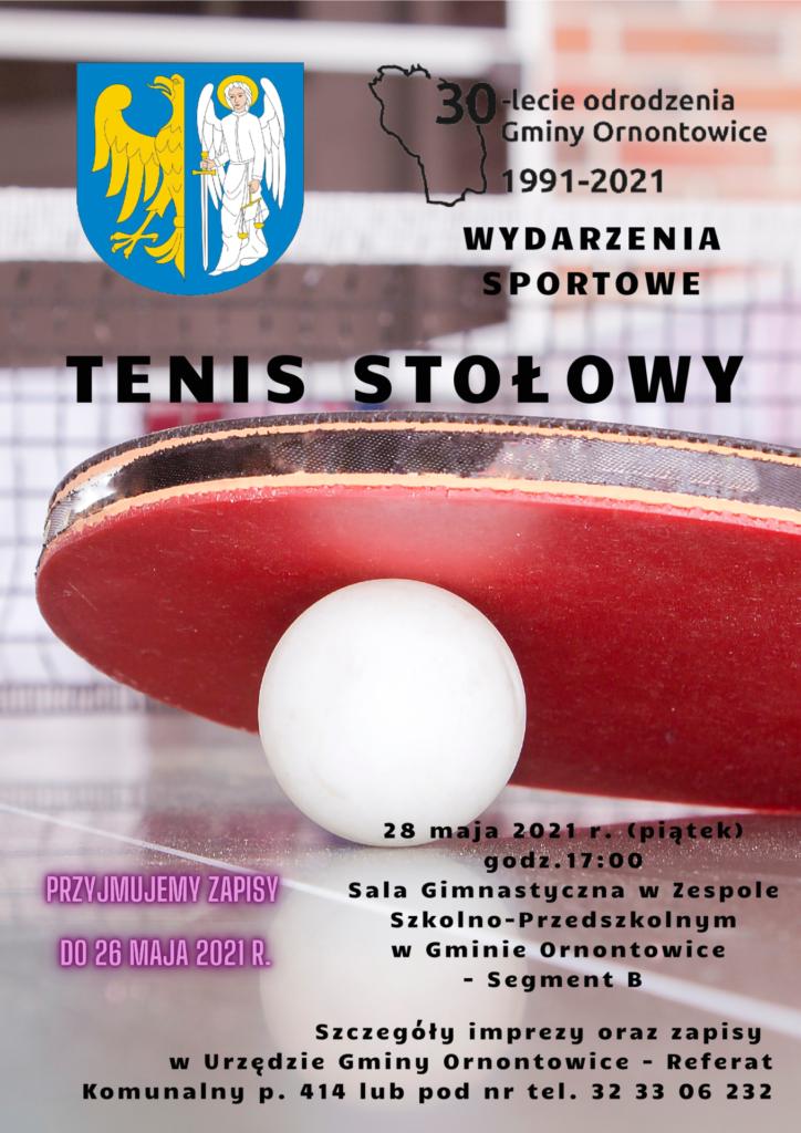 Plakat tenis stołowy