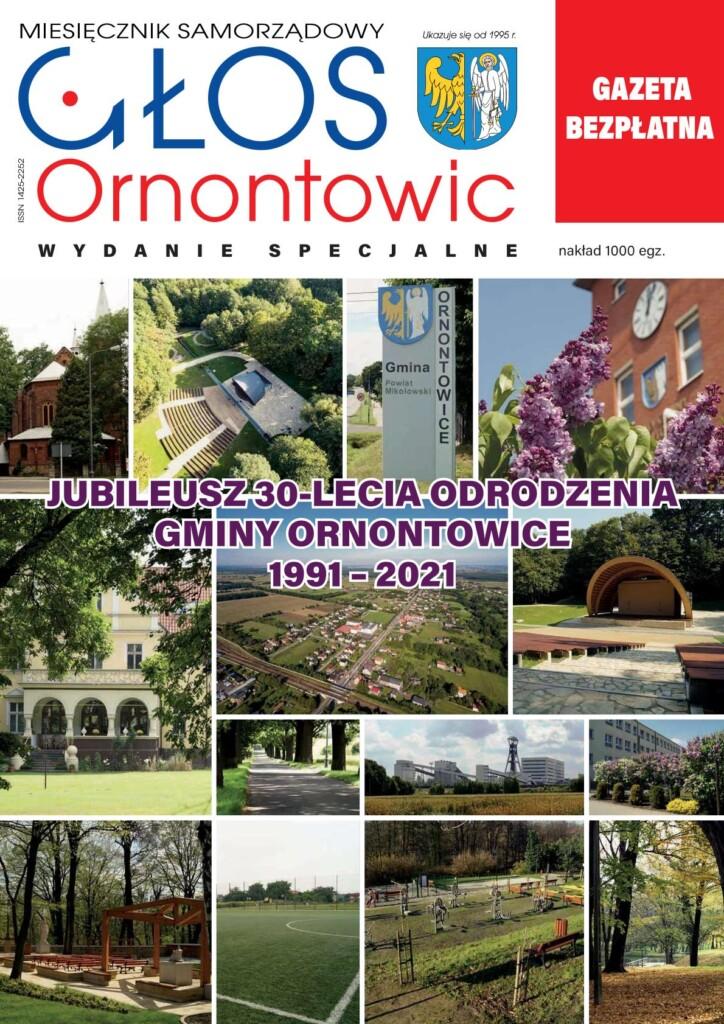 """Okładka wydania specjalnego """"Głosu Ornontowic""""."""