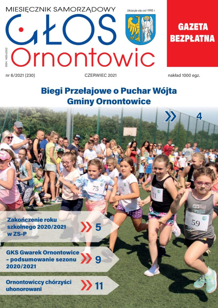 "Okładka ""Głosu Ornontowic"" nr 6/2021 (230)."