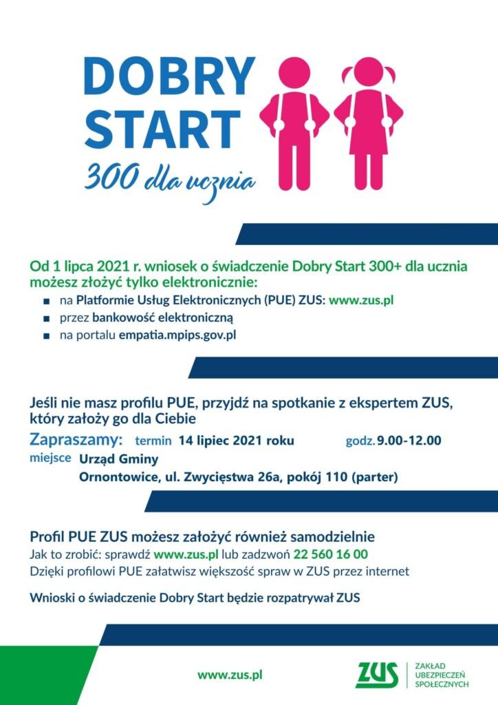 Plakat promocyjny - DOBRY START 300 dla ucznia.